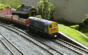 Class 20 passes the derelict station